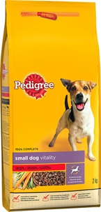 Torrfoder Pedigree Small Dog Vitality, 2 kg, 4002829