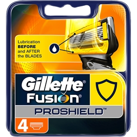 Rakblad Gillette Fusion Proshield Yellow, 4-pack, 3607468