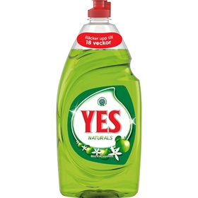 Diskmedel Yes Naturals Äpple, 900 ml, 3607279