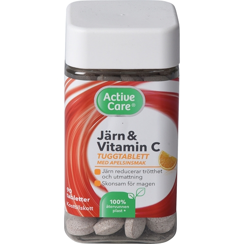Järn Active Care, tuggtablett 90-pack, 3609387