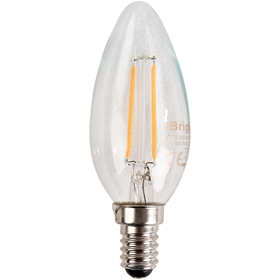LED-lampa E14 Bright, 2W filament kron 250lm, 5000216