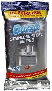 Rengöringsservetter Duzzit Stainless Steel Wipes, 40-pack, 3605283