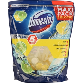 WC-block Domestos Citron, 5-pack, 3608912