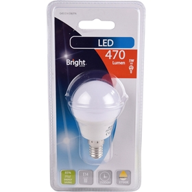 LED-lampa E14 Bright, 5W klot 470lm, 5000197