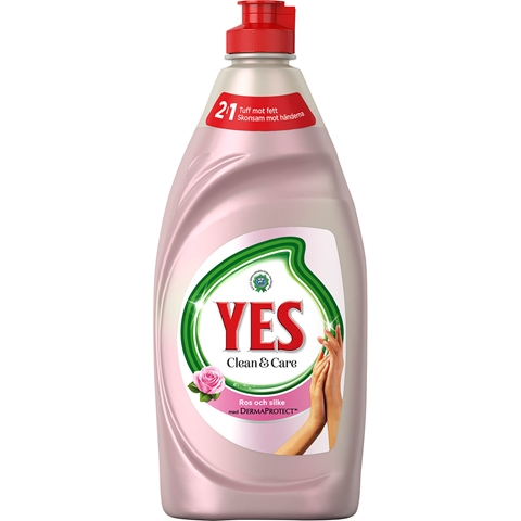 Diskmedel Yes Clean & Care Ros & Silke, 480 ml, 3607865