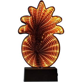 Dekorationsbelysning LED Bright Ananas 3D, batteridriven 32LED 20 cm med timer, orange, 5001160