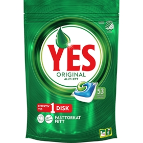 Maskindisktabletter Yes Original, 53-pack, 3608311