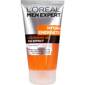 Rengöringsgel L'Oréal Men Expert Hydra Energetic Cleansing Gel Ice Effect, 150 ml, 3604557