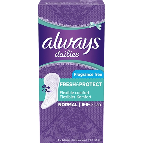 Trosskydd Always Dailies Normal Fresh & Protect, x 20-pack (20x1,9 g), 1601694