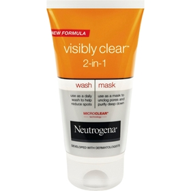 Ansiktsrengöring Neutrogena Visibly Clear 2-in-1 Wash & Mask, 150 ml, 3605410