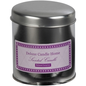 Doftljus, Deluxe Candle Home Relaxed Surprise i metallburk, rosa, 3110233