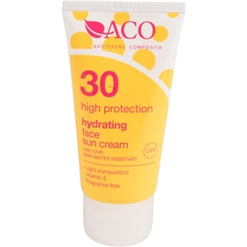 Solskyddscreme ACO Hydrating Face Sun Cream, Spf 30 mycket vattenresistent 50 g, 3605889