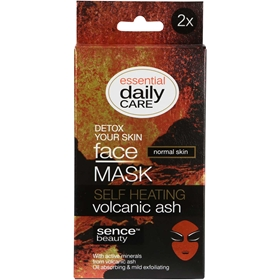 Ansiktsmask Sencebeauty Self-Heating Volcanic Ash, 2-pack, 3608778