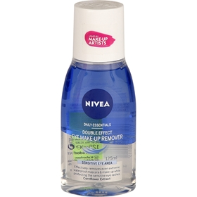 Sminkborttagning Nivea Daily Essentials Double Effect Eye Make-Up Remover, 125 ml, 1601525